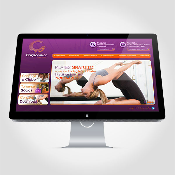 Proposta site Corporation Fitness Center