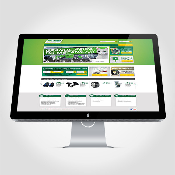 Proposta site + newsletter Feu Vert