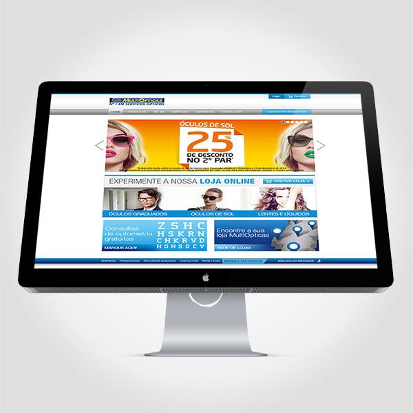 Site vendas online MultiOpticas
